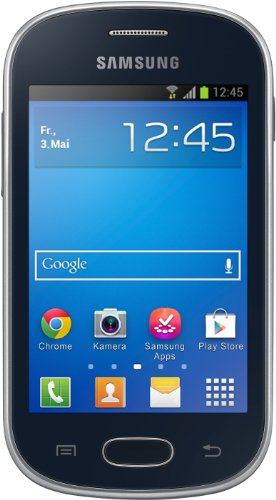 Samsung Galaxy Fame Lite Smartphone (8,9 cm (3,5 Zoll) TFT-Display, 850 MHz Single-Core, 512MB RAM, 3.2 Megapixel Kamera, 4GB interne Speicher, USB 2.0, Android 4.1) midnight-black
