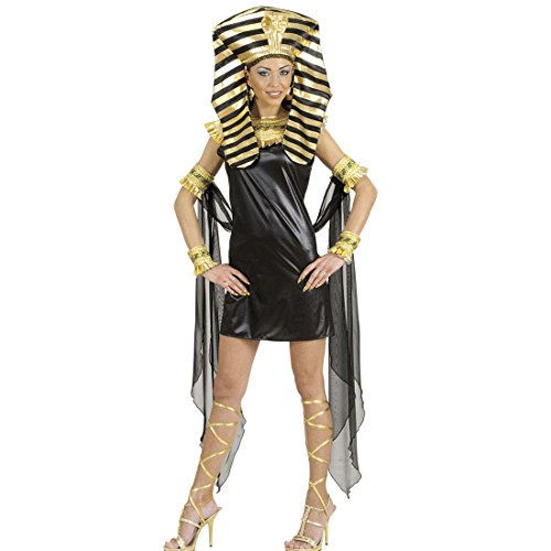 Amakando Disfraz de faraonina egipcia antigua, S 34/36, juego completo de Cleopatra, disfraz de carnaval, para mujer, sexy, disfraz de tropatra, reina egipcia, para mujer