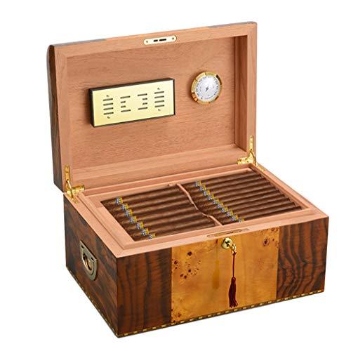 Rangements Humidificateurs À Cigares Humidificateur En Cèdre Boîte À Cigares Multicouche Plateau Creux Équipé D'un Humidificateur Et D'un Thermomètre Cadeau (Color : Brown, Size : 19 * 25 * 36.5cm)