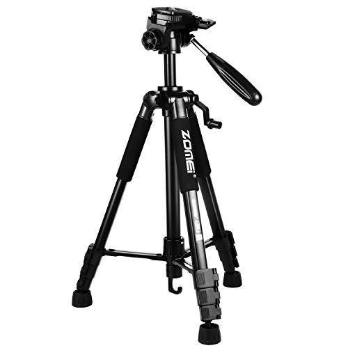 ZoMei Z666 Camera Tripod Lightweight Travel Aluminum Tripod 3-Way Pan Head Tripod for Nikon Sony Canon DSLR DV Video with Carrying Bag(Black)