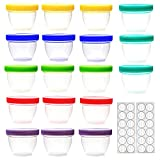 18 Pack Baby Food Storage, 4 Ounce Baby Food Containers with Lids, 6...