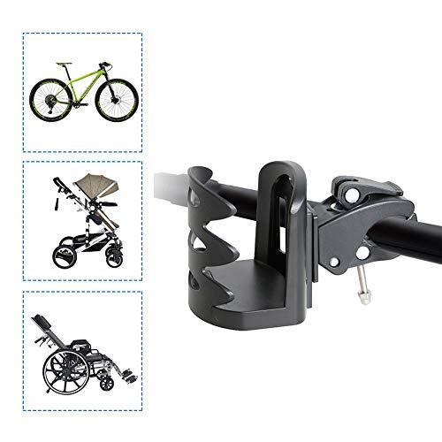 Portabidon Bicicleta Portavasos Universal PláStico ABS Puede Rotar 360 Grados Accesorios Bicicleta para Bicicleta De MontañA Silla De Ruedas Cochecito De Bebé