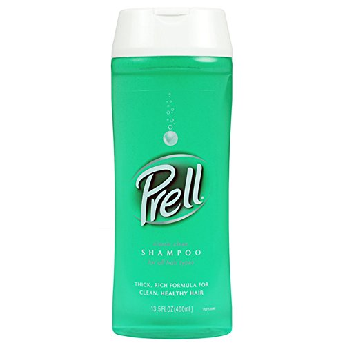Prell Classic Clean Shampoo, Leaves Hair Healthy, Shiny and Full of Texture without Causing Dryness, Alcohol Free, 13.5 Fl Oz, Pack of 6