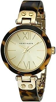 Anne Klein 10/9652CHTO Gold-Tone Tortoise Resin Bracelet Women's Watch