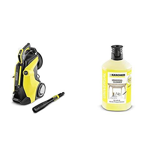 Kärcher K 7 Premium Full Control Plus Idropulitrice a Freddo, 3000 W + Kärcher - Accessorio per Idropulitrice - Detergente universale - 1 l (Kärcher, K 2 Home K 2 Basic K