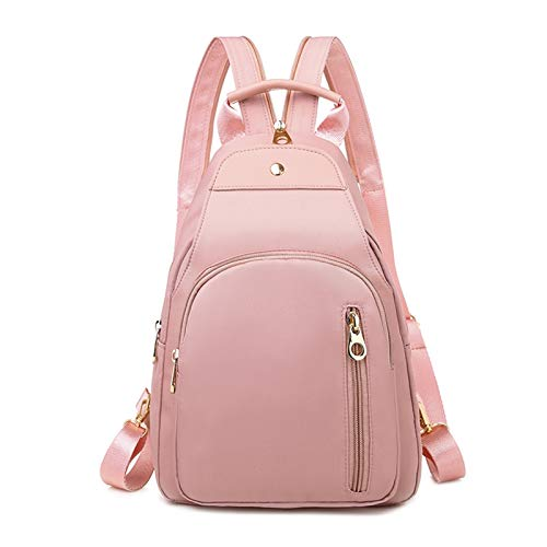Fashion Ladies Small Backpack Women Oxford Waterproof Mini Backpack Women Backpack Small Backpacks For Girls Teenagers (Color : Pink, Size : 33cmx23cmx12cm)