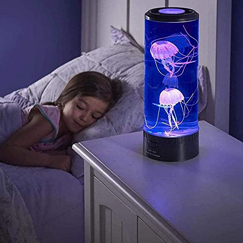 Lámpara De Mesa De Tanque De Medusas Eléctrica Con Luz Nocturna Con Luz Que Cambia De Color Regalo Para La Habitación Luz De Humor Para Relajarse Para Niños Hombres Mujeres Decoración Para El Hogar