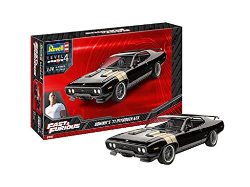 ドイツレベル 1/24 Fast&Furious 1971年 プリムス GTX ドミニク プラモデル 07692