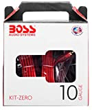 BOSS Audio Systems KIT-ZERO 10 Gauge Wiring Installation Kit for Car Amplifiers - A Car Amplifier Wiring Kit Helps You Make Connections and Brings Power to Your Radio, Subwoofers and Speakers