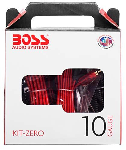 BOSS AUDIO KIT-ZERO 10 Gauge 2,6 mm Auto Installations-Set Verstärker Endstufe Kabel Anschlusskabel Cinch Kabel