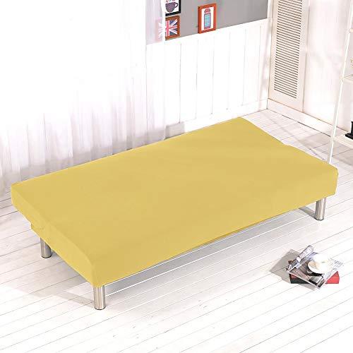 LUYISH color sólido sofá desplegable con todo incluido cama, color sólido todo-en sofá plegable sin brazos capa extensible de la cubierta protectora