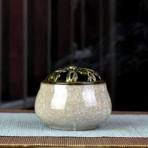 OMUSAKA Tragbare weihrauch Brenner Keramik Buddhismus weihrauch Halter Hause teehaus Yoga Geruch entfernen Werkzeug weihrauch Geschenk