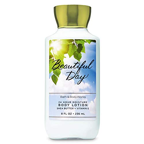 Bath & Body Works Beautiful Day 2019 Edition 24 hour Moisture Super Smooth Body Lotion with Shea Butter, Coconut Oil and Vitamin E 8 fl oz / 236 mL