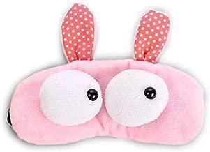 ❤️ HugSnug ❤️ - Cute Cartoon Pink Rabbit Kids Sleep Mask for Boys and Girls Sleeping, Eye Mask Soft And Blocks Light with Adjustable Straps (Grey)