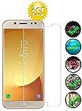 Smartphone-Equipment [2er Pack] Panzerglas für Samsung Galaxy J5 2017 Echt-Hartglas 9H, Bildschirmschutz Panzerfolie Glasfolie Schutzfolie Glas Folie Bildschirm Schutz