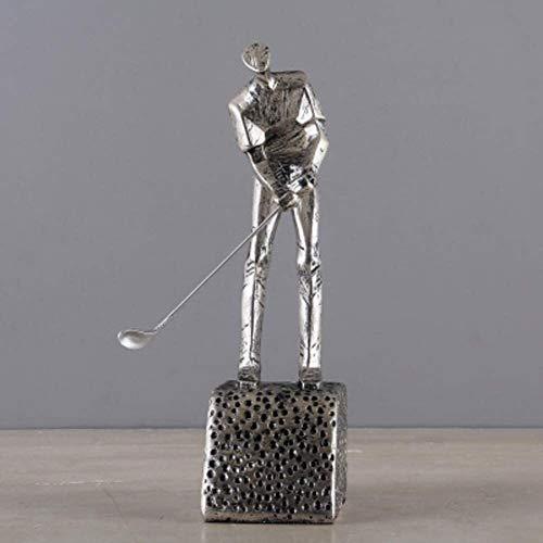samantha Einzigartiges Handwerk Kreative Golfverzierungen Skulptur, Nordic Retro Harz Home Dekorationen Wohnzimmer Menschen Bürogeschenke Weiche Dekorationen