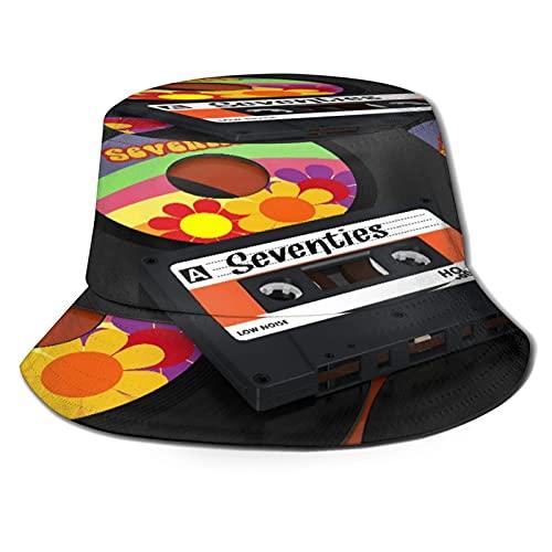 Sombrero de Pescador para ,Un Casete Compacto y, Sombreros de Sol Plegables...