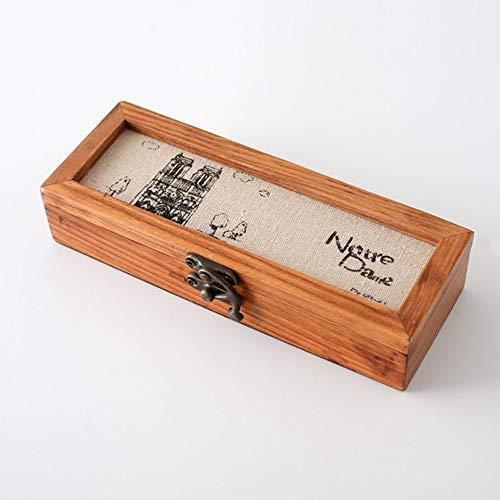 MUY Holzkiste Schmuck Uhr Brillen Bleistift Radiergummi Stempel Schule Briefpapier Lagerung Holz Fall Sammlung Geschenkbox Schreibtisch Dekoration