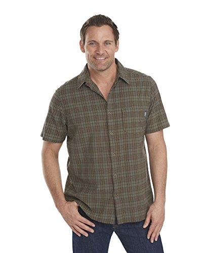 Woolrich Herren Button-down-Hemd Gr. M (US Größe), Field Gray