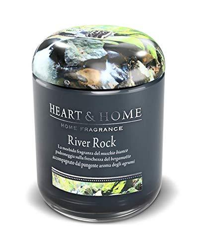Heart & Home Duftkerze River Rock, 340 g, Sojawachs