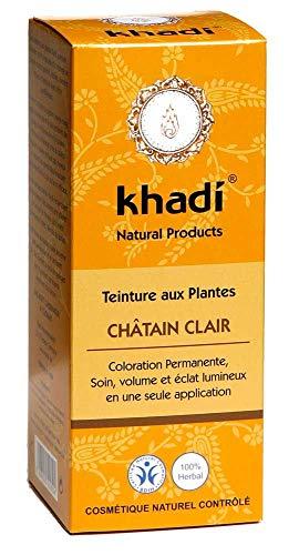 Khadi – Coloración vegetal castaño claro 100 g orgánico – Se vende por unidades