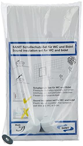Sanit Schallschutzset für Wand-WC und Bidet, 1 Stück, weiß, 16.002.00..0000 - 4