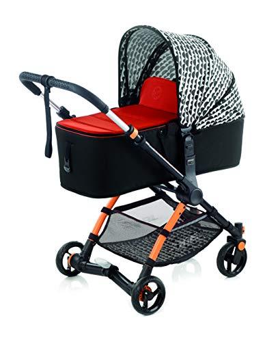 Jané Minnum Micro - Silla de Paseo con Capazo Plegable, Incluye Kit de Ruedas Sport de Gran Diametro, con Bolso y Plástico de Lluvia, Color Clouds