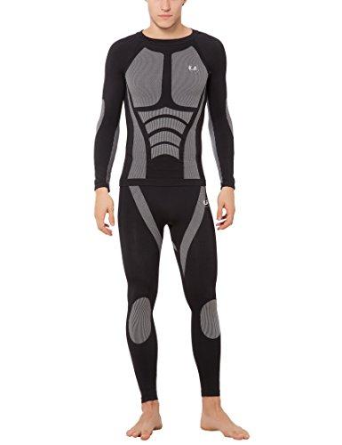 Ultrasport intimo da uomo funzionale per sci e altri sport Tide - Seamless, Nero, S/M