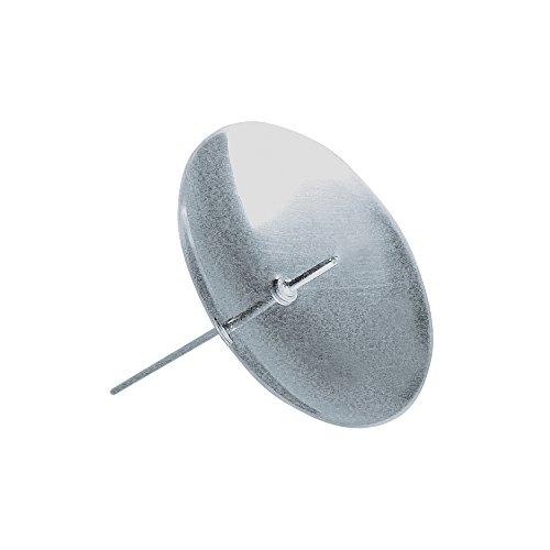 Rayher 2515022 Messing-Kerzenhalter, zum Stecken, SB-Btl. 4 Stück, sil