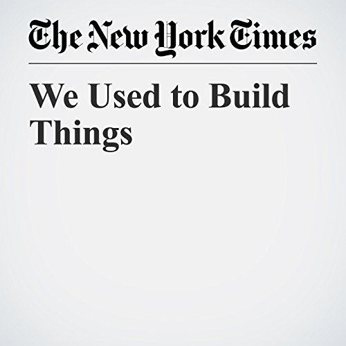 We Used to Build Things copertina