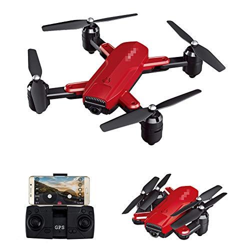 QqHAO Cámara aérea del abejón 4K HD de GPS Que dobla el Juguete teledirigido del Aeroplano del Quadcopter 5G,Rojo,1080 Optical Flow
