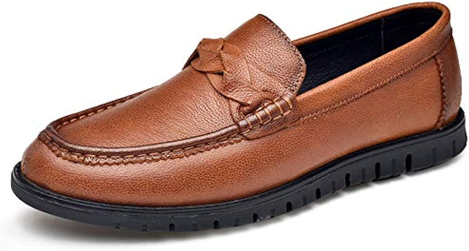 Men's Casual shoes, Flat Loafers Spring Fall Loafers & Slip-Ons Soft Sole Comfort Driving shoes Cycling shoes new,Black,38