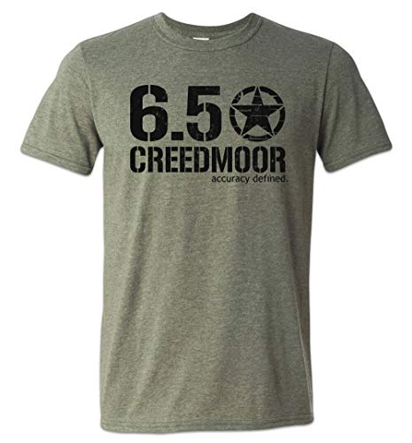 Zepp Tees 6.5 Creedmoor Shirt Precision Rifle Long Range Competition PRS Hunting Heather Military Green