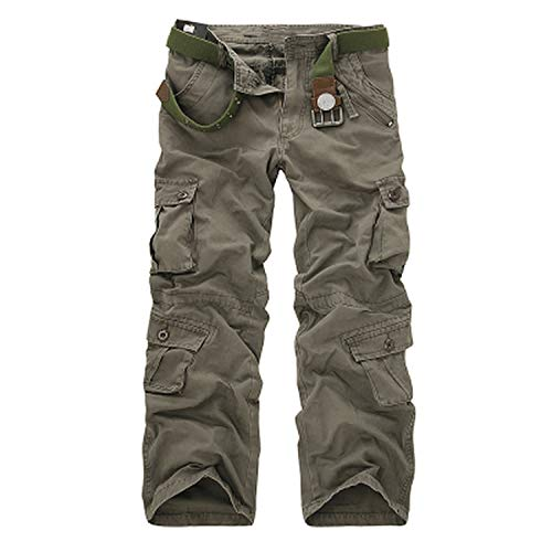 romantico Men Pants Fashion Camouflage Cargo Pants Casual Combat Trousers Male Big Size 40 Multi-Pockets Baggy Pant,Earth ArmyGreen,40