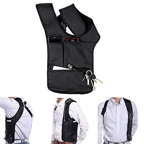 Ducomi Connery-Riñonera bandolera con múltiples bolsillos para tener ocultos y a salvo todos sus efectos personales, 22x 45x 37mm