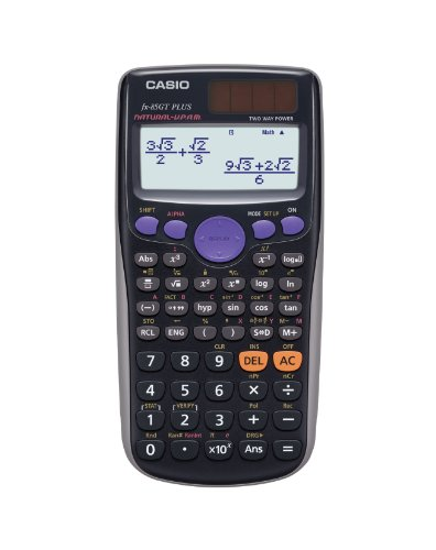Casio FX 85GT Plus, nuovo modello (il più recente della serie Casio FX 85ES), include manuale d' u