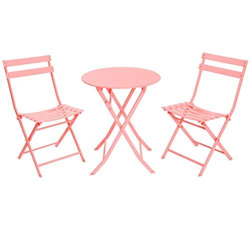 FTFTO Decorazione Vivente Tavolo Pieghevole e sedie da Esterno Balcone tavolino in Ferro battuto Patio Camera da Letto Tavolo e sedie 1