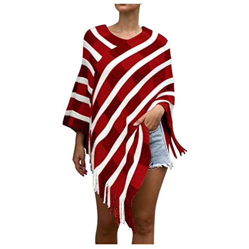Vectry Mujer Invierno Punto Cachemira Poncho Capas Chal Cárdiganes Suéter Abrigo 2019 Nuevo Chaqueta Casual Abrigos Mujer