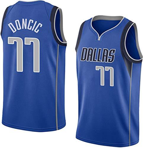 WSUN NBA Hombre Jersey Luka Doncic Camiseta De Baloncesto NBA Mavericks # 77 Camiseta Camiseta Clásica Cómodo/Ligero/Transpirable Malla Bordada Sudadera Unisex,A,L(175~180CM/75~85KG)