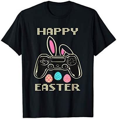 Video Game Easter Bunny Gaming Controller Gamer Boys Girls T Shirt product image