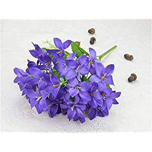 TRRT Fake Plants Fake Flower Bouquet, Daffodil Lily Wedding Living Room Outdoor Project Christmas Home Decoration Silk Flower Lily Fake Flower (Color : Purple)