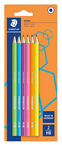 STAEDTLER Bleistift Noris eco, hohe Bruchfestigkeit, rutschfeste Soft-Oberfläche, innovatives Wopex-Material, Härtegrad HB, Blisterkarte mit 6 Bleistiften, 180F BK6