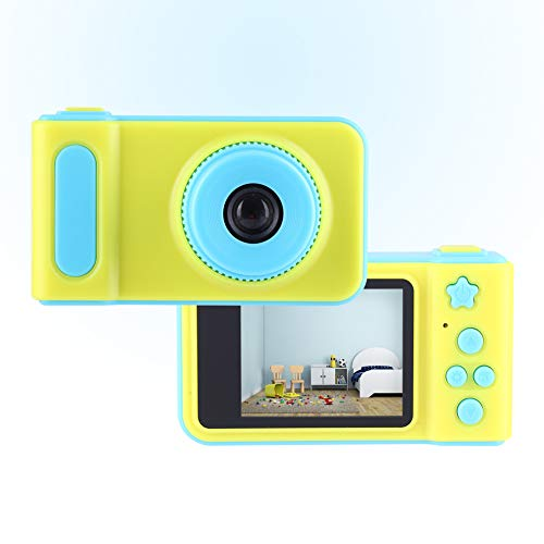 【Venta del día de la Madre】 AMONIDA Cámara para niños, cámara de Video para niños de diseño Simple, Marco Digital Compacto y liviano Imagen HD Artista Viajero para fotógrafo doméstico(Blue)