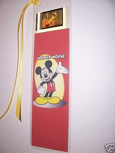 Mickey Mouse Movie Memorabilia Film Cell Bookmark