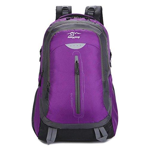 30L grande capacité Sac à dos en plein air escalade hommes et femmes Sac à dos Camping imperméable Loisirs Voyage , purple
