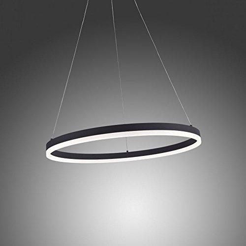 Licht-Trend Ring M LED-Hängeleuchte dimmbar über Schalter Ø 60 cm Anthrazit Ringleuchte LED-Ring Pendel Esstischlampe Wohnzimmerlampe