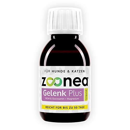 Zoonea Gelenk Plus Liquid (100 ml) für Hunde & Katzen - Mit MSM & Glucosamine - Einfache Dosierung mit mitgelieferter Dosierpipette