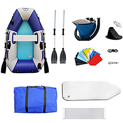 D&M Inflatable Kayak 1 Person/2 Person, Portable Foldable Thickening Rubber Boat, for Lake, Inflatable Fishing Boat, Blow Up Drifting Diving Boat,175cm Luxury