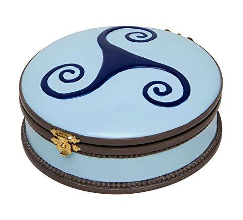 """Caja de música de porcelana y metal con bailarina, fetiche de Félicie de la película \""""Ballerina\"""" - El lago de los cisnes (P. I. Chaikovski)"""