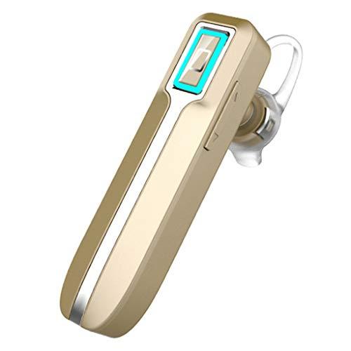 Ear CancellingV4.1 Bluetooth-hoofdtelefoon, waterdicht, geluidsarm, draadloos, Bluetooth oordopjes, 30 uur, met lange levensduur, stand-by accu, voor business, kantoor, auto en sport, Goud